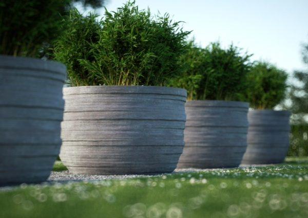 hydra betonnen bloembakken